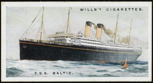 White Star liner on the Atlantic crossing from Liverpool to New York