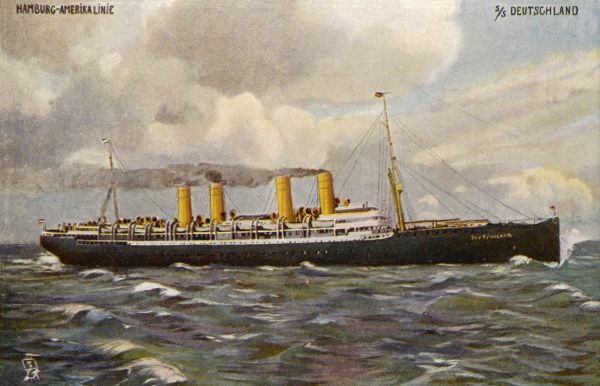 Passenger liner of the Hamburg-Amerika line (note : there were many vessels with this name)