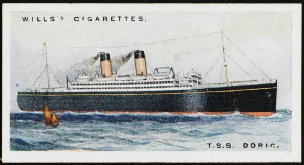 White Star liner on the Atlantic crossing from Liverpool to Canada