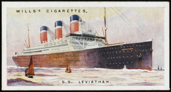 Atlantic liner of the United States Lines, formerly the Hamburg-Amerika liner 'Vaterland', made over as war reparations and reconditioned for 2 million (1924 value !&quot