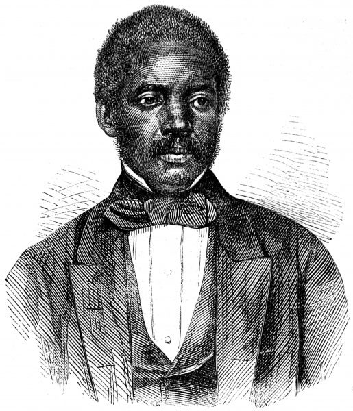 Engraved portrait of Stephen Allen Benson (1816-1865), the second president of Liberia who served from 1856-64, pictured in 1862