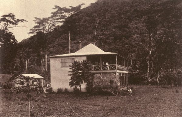 ROBERT LOUIS STEVENSON Scottish writer's home at Vailima, Samoa, from 1890 onwards Date: 1850 - 1894