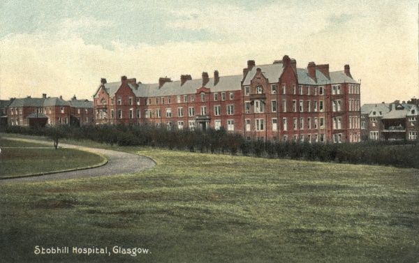 Stobhill Hospital was erected in 1903-4 at Springburn, Glasgow, by the city's poor law authority. It provided around 2000 beds for the infirm and chronically sick poor, and for children. During the First World War it was used as a military hospital