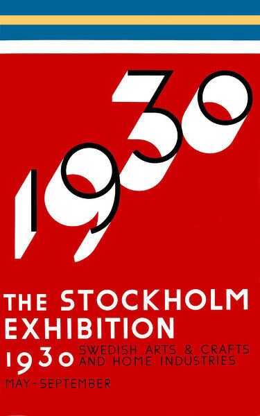Poster for the Stockholm Exhibition, 1930. Date: 1930