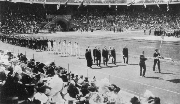 Opening ceremony of the Stockholm Olympics: the British Team