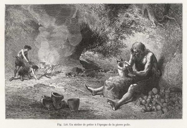 A Neolithic (Stone Age) potter