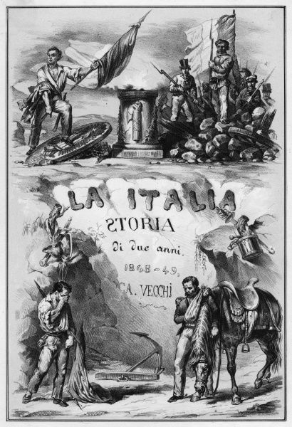 Title page of Vecchi's 'Storia di due anni' which recounts the history of two crucial years in the history of Italy - the struggle for and the achievement of independence