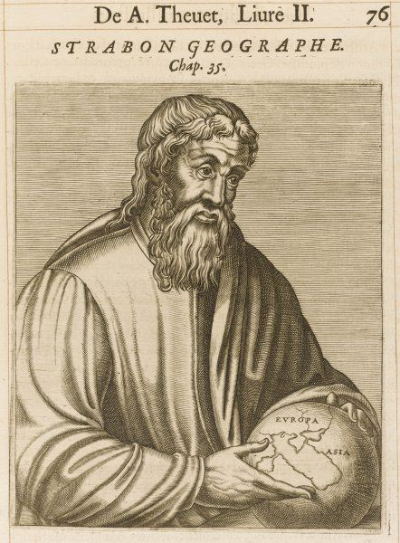 STRABO Greek geographer and historian