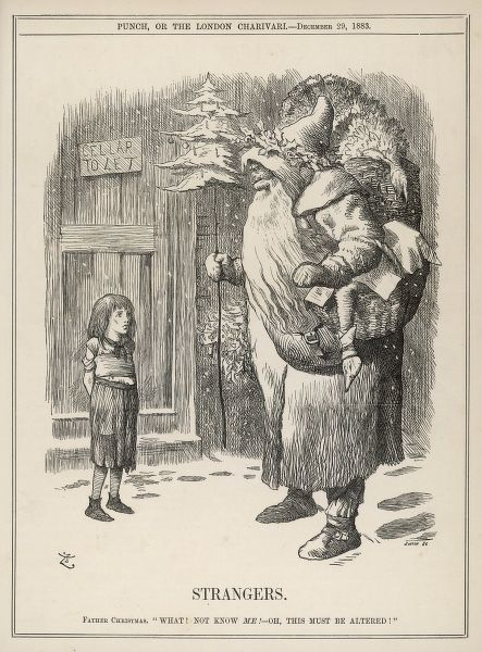 STRANGERS Father Christmas visits the slums, to find out the little girl doesn't know who he is!