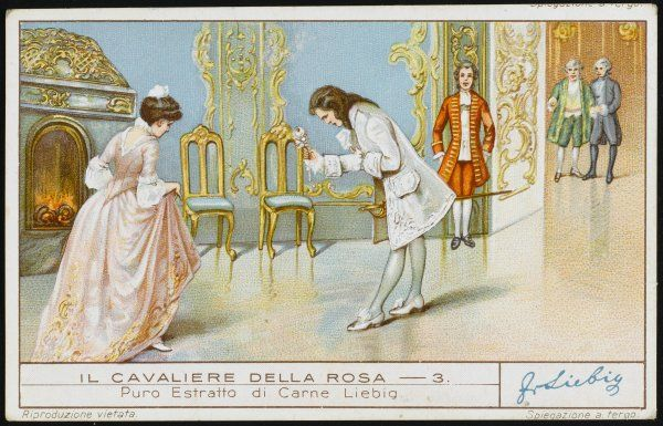 ROSENKAVALIER Octavian presents the rose to Sophie von Faninal