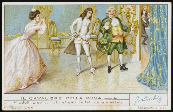 ROSENKAVALIER Octavian challenges the Baron Ochs to a duel