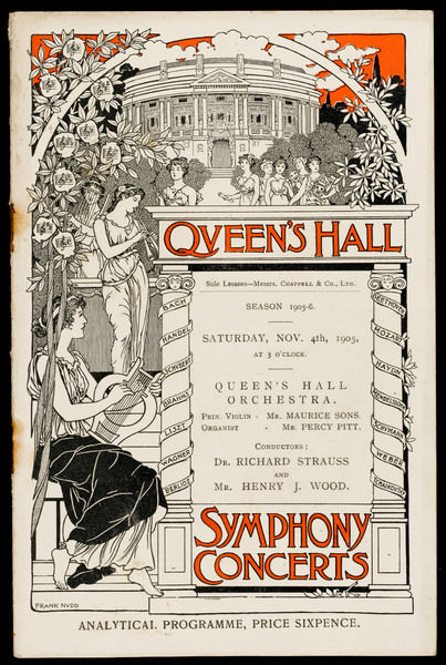 A concert conducted by Richard Strauss and Henry Wood held at the Queen's Hall, London