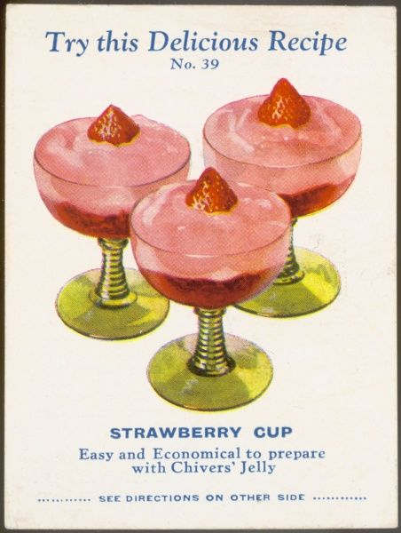 A strawberry cup jelly