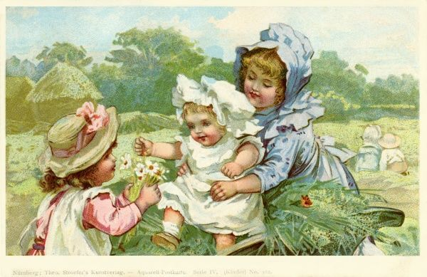 Stroefer. Young children in the fields. Anon. c1901.jpg
