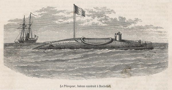 'Le Plongeur' submarine constructed by Bourgeois and Brun