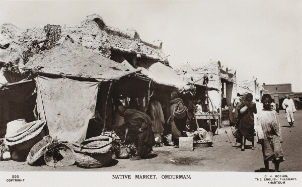 Sudan - Native Market at Omdurman. The site of the Battle of Omdurman on 2nd September 1898. Winston Churchill famously rode with the 21st Lancers - three Victoria Crosses were awarded as a result of the action