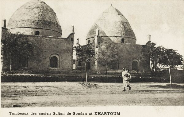 Sudan - Tombs of the Turkish Mameluke Sultans at Khartoum - dating from the 14th century. Nowadays, the tombs have survived, but are completely surrounded by new high-rise buildings!