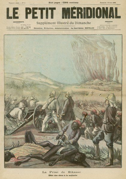 The French take Sikasso, after bombardment with melinite shells