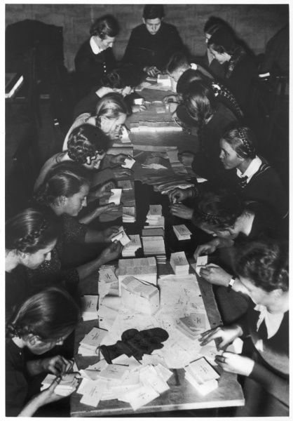Schoolgirls counting the votes during the Sudetenland elections, which had become part of the new Republic of Czechoslovakia in 1918 and included many German speakers