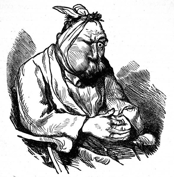 An illustration of a patient with toothache
