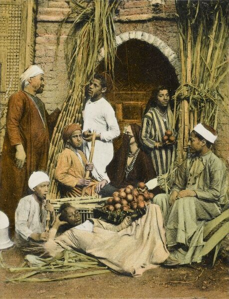 Sugar Cane Sellers / Market, Cairo, Egypt