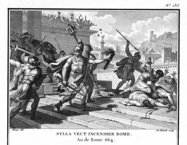 Sulla wages civil war against Marius, captures Rome and threatens to destroy it