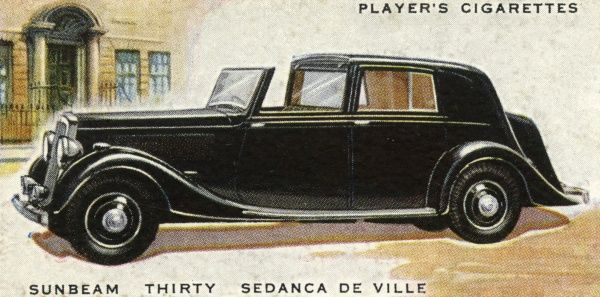 The stylish and costly (close on L1500) Sunbeam Twenty Sedanca De Ville is a brave bid for the up-market buyer. Date: 1937