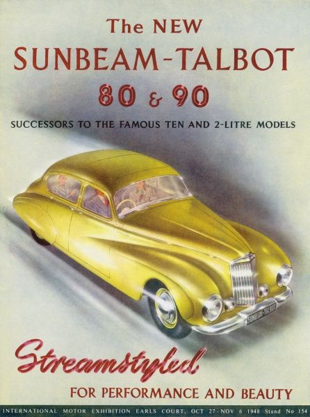 The first innovative post-war design, the Sunbeam-Talbot 80 and 90 maintain their pre-war reputation for elegance