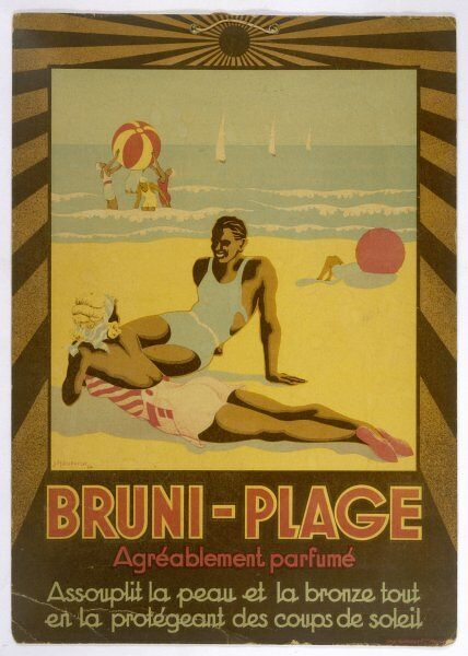 BRUNI-PLAGE softens your skin, gives you a tan, while protecting you
