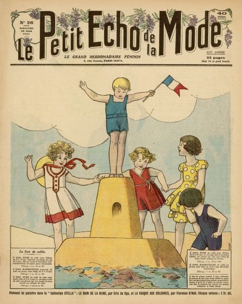 'I'm the King of the Castle !' - a triumphant French boy waves a patriotic flag from the castle tower - but how did he get there without the edifice crumbling ?