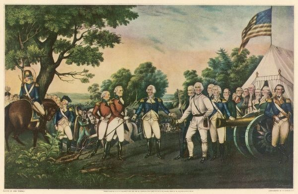 After being defeated by Gates at the battle of Stillwater, Burgoyne surrenders at Saratoga : this is a turning point in the war ensuring victory for the colonists
