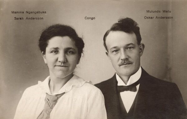 Swedish Missionaries to the Congo - Sarah Andersson and Oskar Andersson Date: circa 1910s