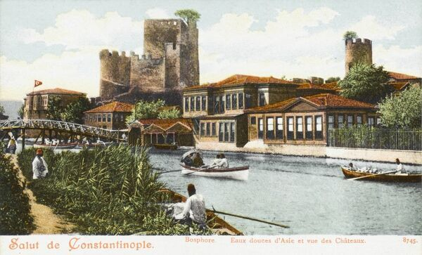The Sweet Waters of Asia Minor and a view of the Castle - the Anadolu Hisari
