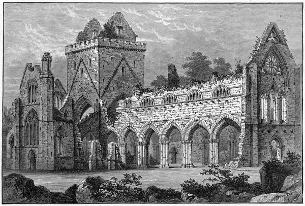 Sweetheart Abbey, or New Abbey, outside the village of that name near Dumfries, Scotland. It was indeed new at one time, but that was in 1275 -- today it is much the worse for wear, though much remains