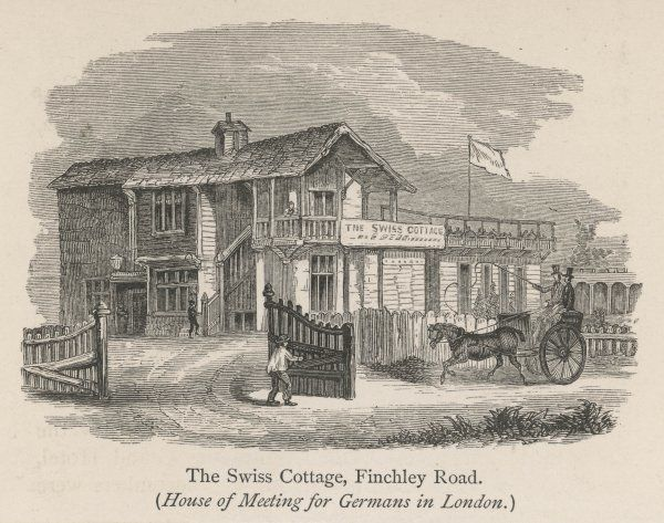 The Swiss Cottage tavern in Finchley Road, London