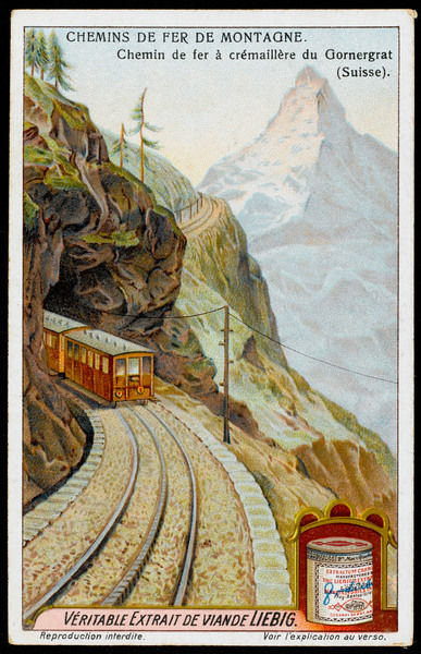 The Swiss have more mountains than most people - and more railways to carry you up them. This is the electric rack- railway of Gernergrat, starting at Zermatt