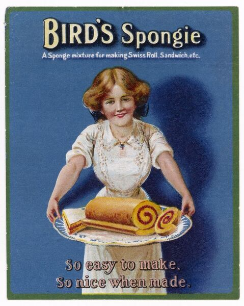 Bird's 'Spongie' mixture - ideal for making a Swiss Roll
