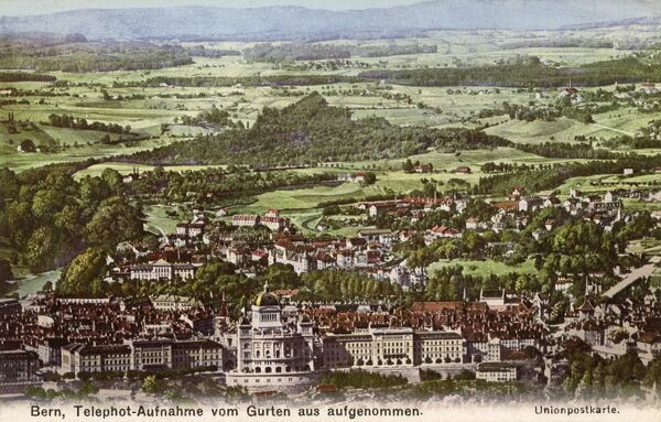 Switzerland - Bern - Aerial Photograph Date: circa 1908