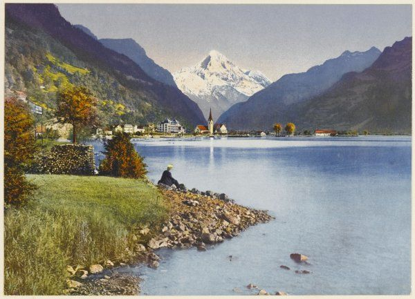 Fluellen on the Urnersee, with the Bristenstock
