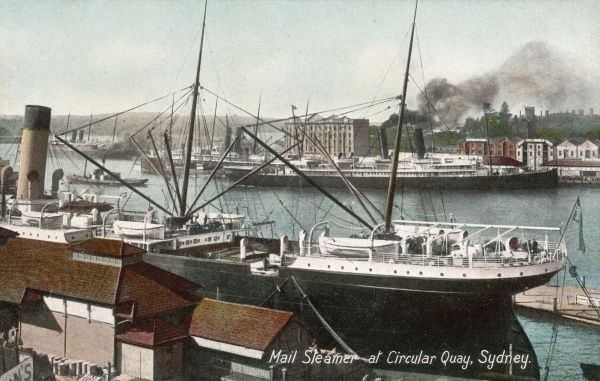 Mail steamer at Circular Quay, Sydney, New South Wales, Australia