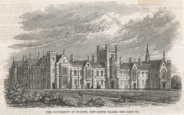 A view of Sydney University, founded in 1852