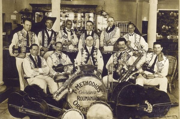 T Methodios and his Celebrated Roumanian Orchestra at.... Margate! Date: circa 1920