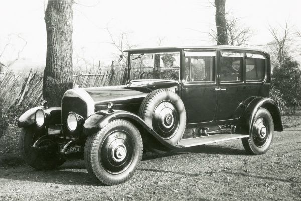 T75, final production motor chassis with Maythorne and Sons Ltd bodywork - three quarters view Date: 1920