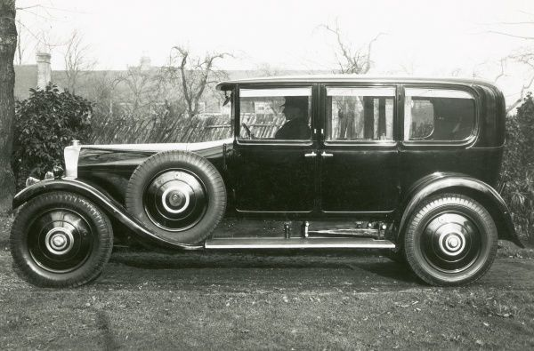 T75, final production motor chassis with Maythorne and Sons Ltd bodywork - side view Date: 1920