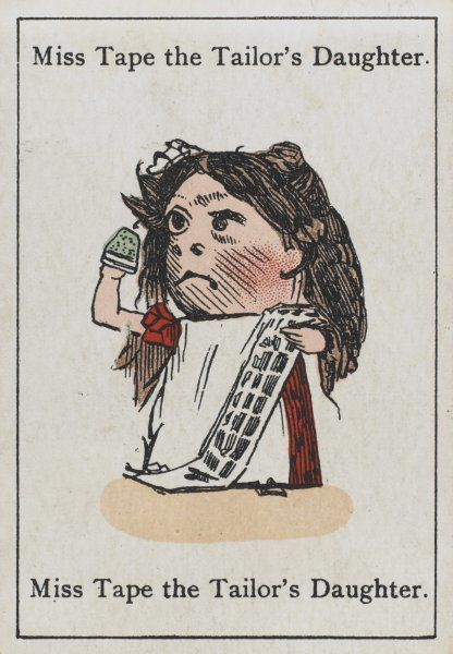 "Miss Tape the Tailor's Daughter, from ""Happy Families"" devised in Britain by Mr Jacques in 1861"