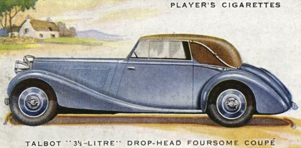This handsome tourer is one of the fastest cars on the road - it can top 90 mph ! Date: 1937