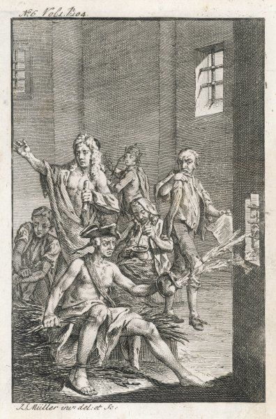 Scene from 'Tale of a Tub'; Swift's first major work