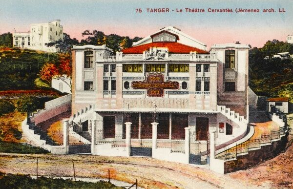 The Cervantes Theatre built in 1913 in Tangiers, Morocco, designed by the Architect Jememez