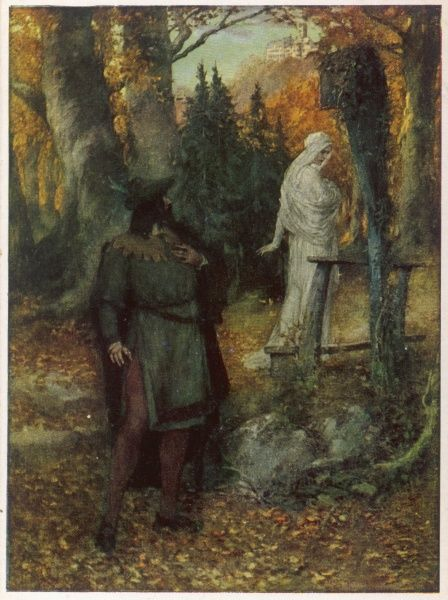 Tannhauser and Elisabeth in the woods