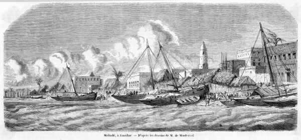 The waterfront after one of the hurricanes which periodically ravage the town